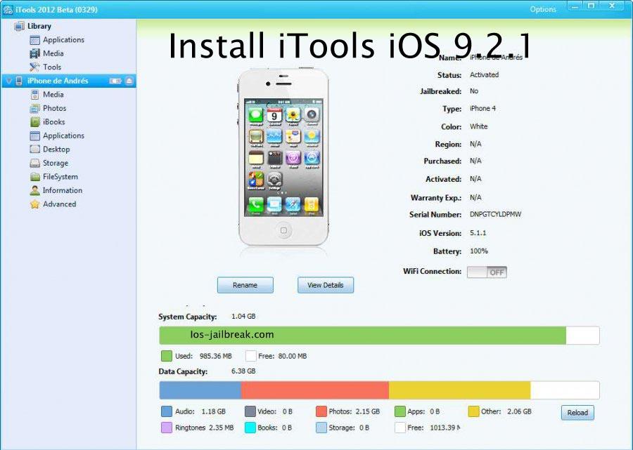 Install iTools iOS 9.2.1
