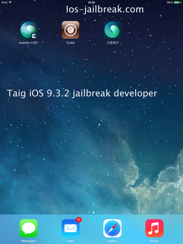 iOS 9.3.2 jailbreak