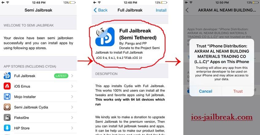 PanGu iOS 9.4 jailbreak
