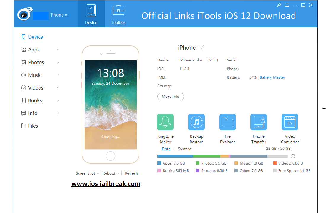 Download iTools iOS 12 (Full HD) Direct Links: iTools iOS