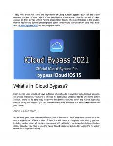 bypass iCloud iOS 15